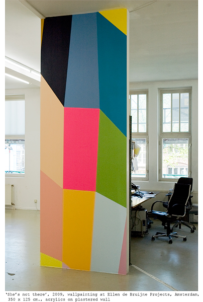 'She's not there', wallpainting at Ellen de Bruijne Projects, Amsterdam - Click image to return.